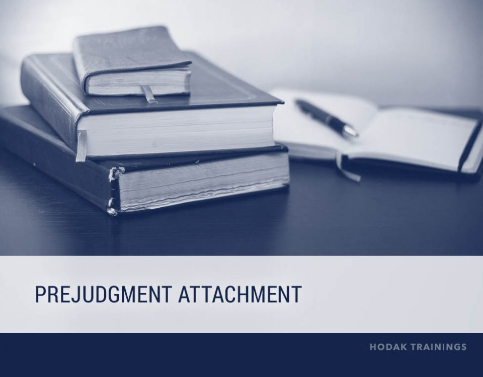 Prejudgment attachment